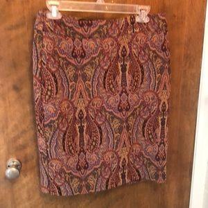 Ann Taylor Paisley skirt size 6